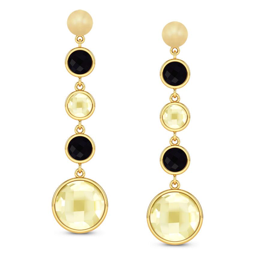Serie Multi-Stone Drop Earrings