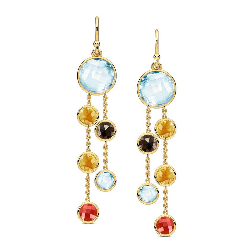 Swerve Gemstone Drop Earrings