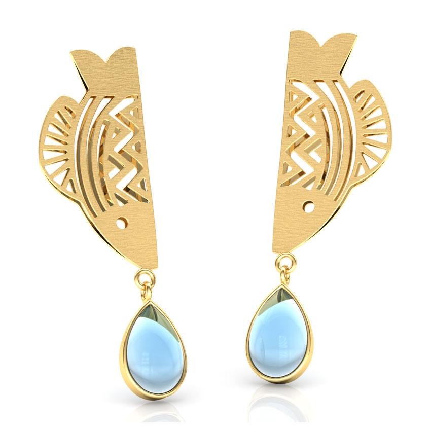 Matsya Linear Drop Earrings