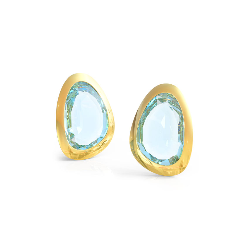 Topaz Pear Stud Earrings