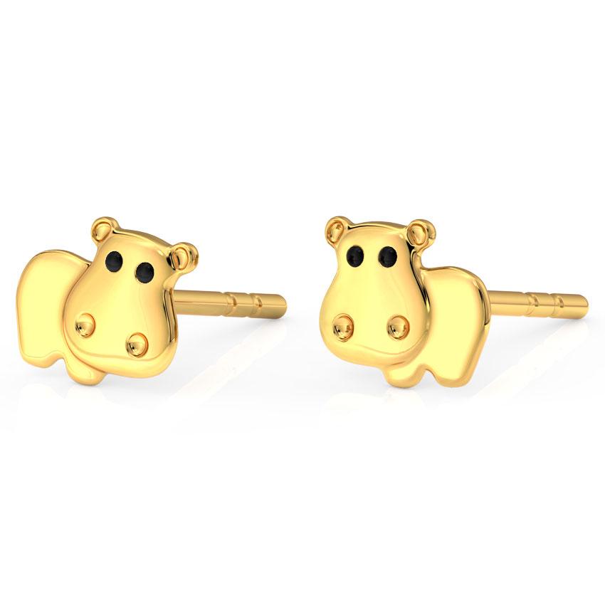Hippo Kids' Earrings