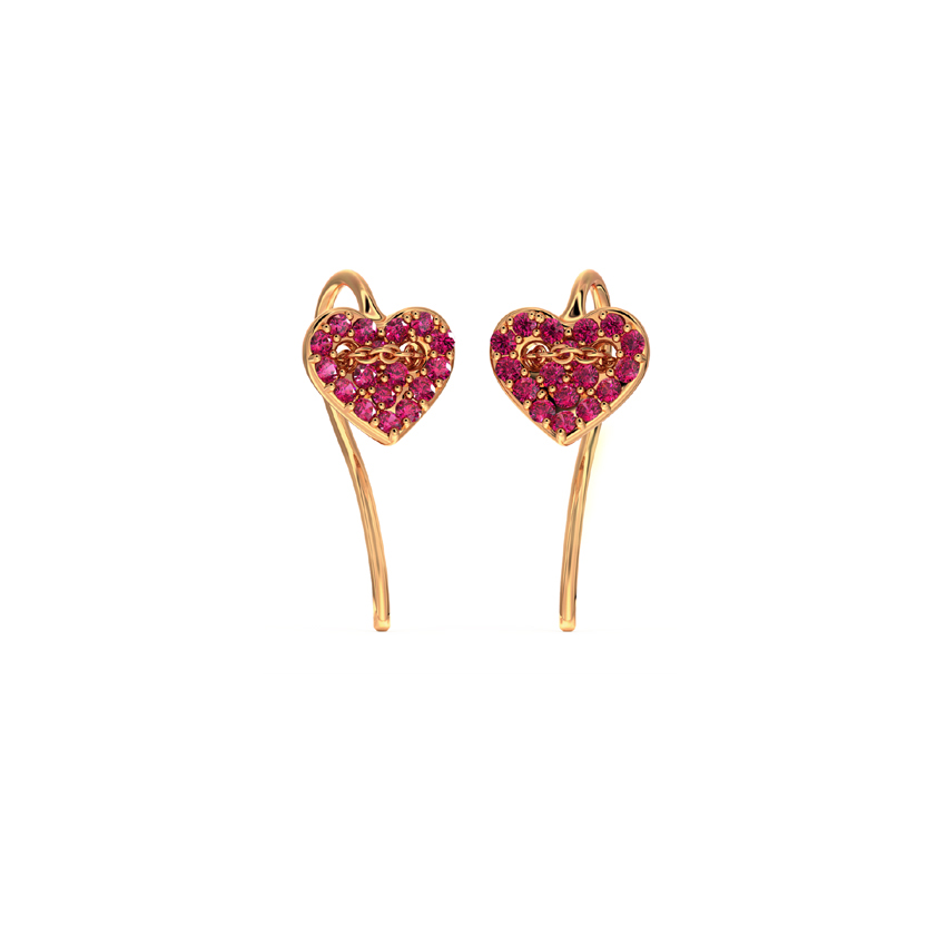 Gold Earrings 14 Karat Rose Gold Adore Gemstone Drop Earrings