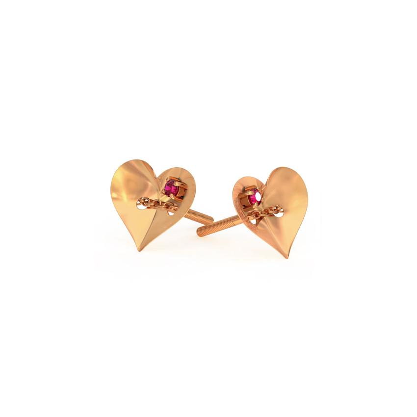 Passion Love Lock Stud Earrings