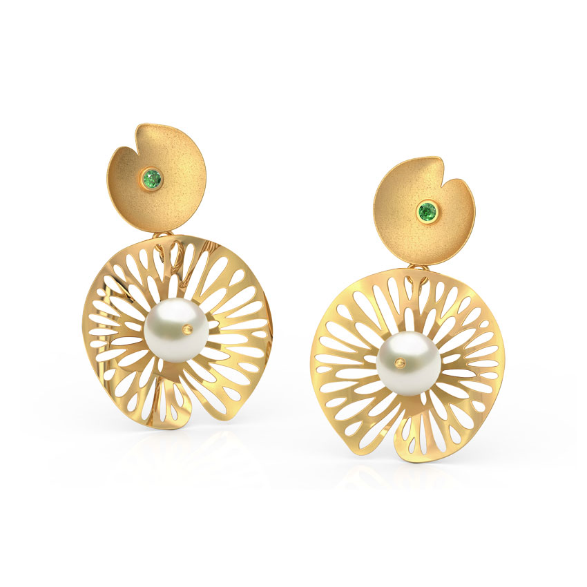 Intricate Leaf Drop Earrings