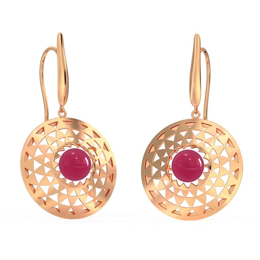 Symmetric Ornate Drop Earrings