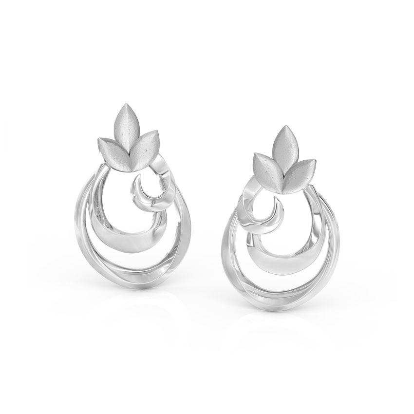 Curl Petals Stud Earrings