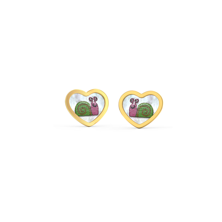 Funky Snail Stud Earrings