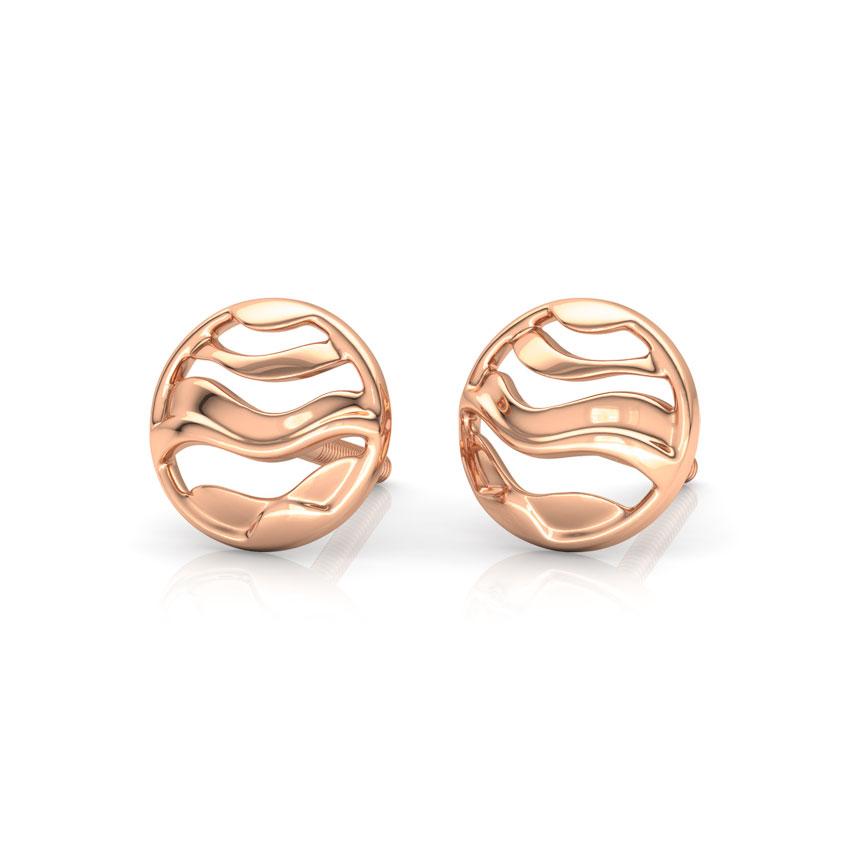Encircle Wave Stud Earrings