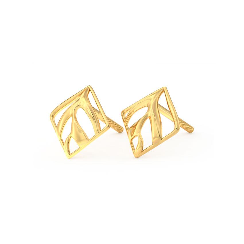 Swerve Quad Stud Earrings