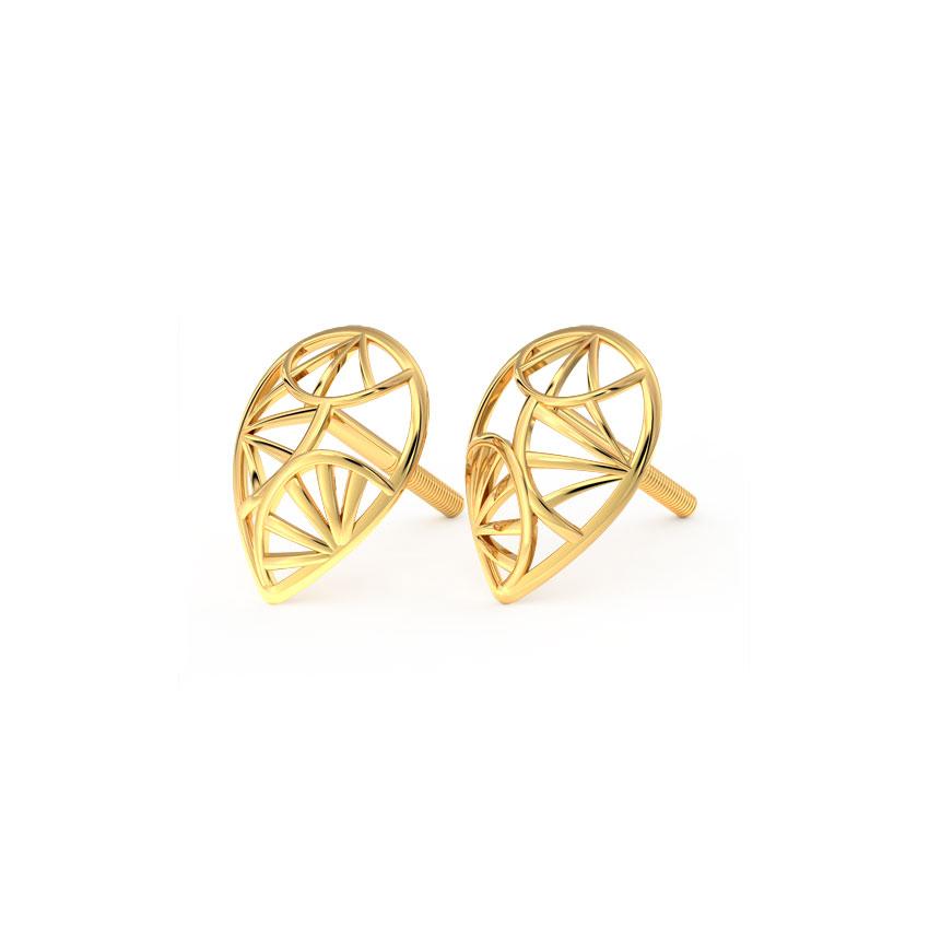Stark Pear Stud Earrings