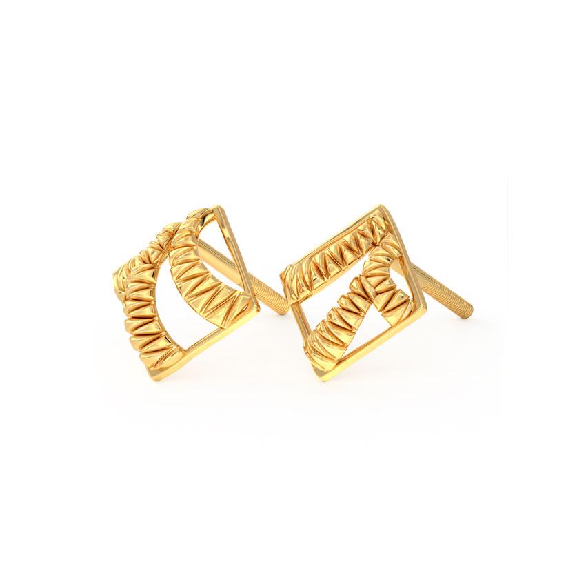 Ruffle Quad Stud Earrings