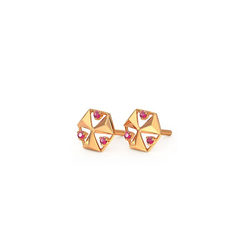 Hex Stud Earrings