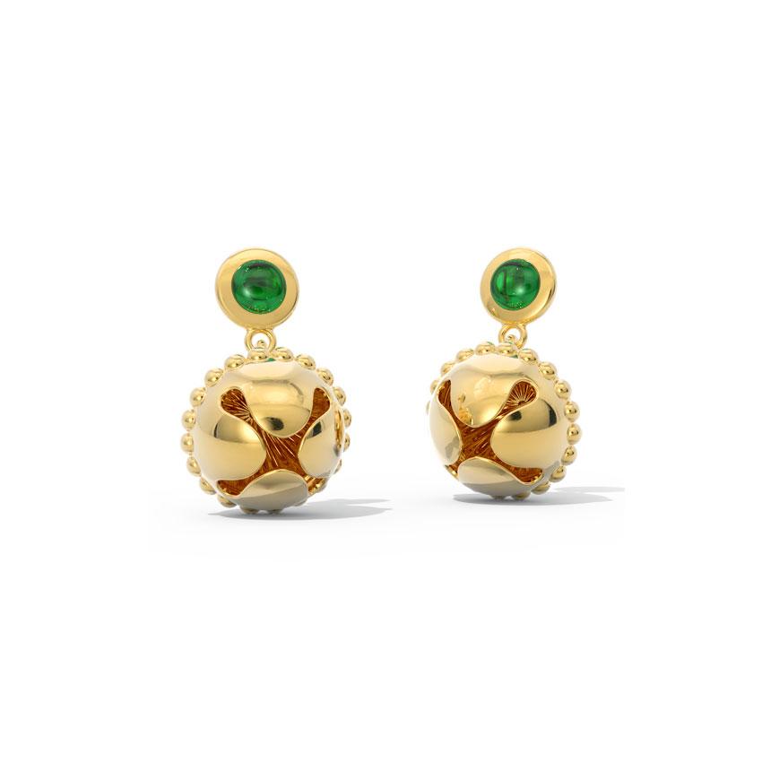 Shovana Gold Drop Earrings