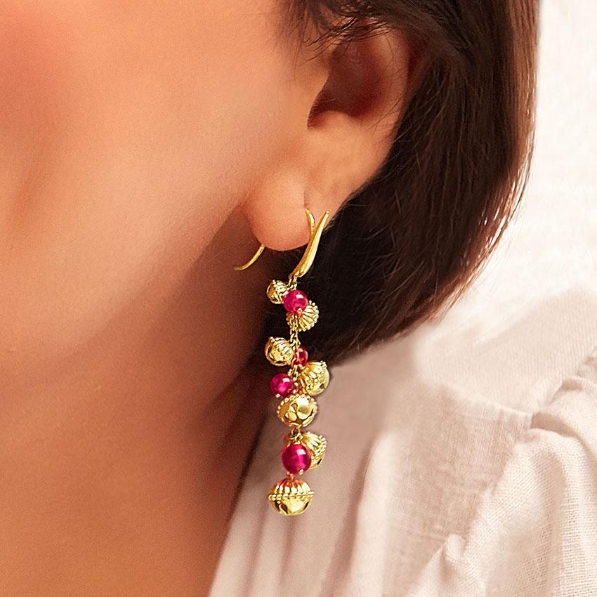 Kasturi Gold Drop Earrings
