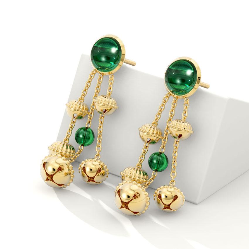 Leela Gold Drop Earrings