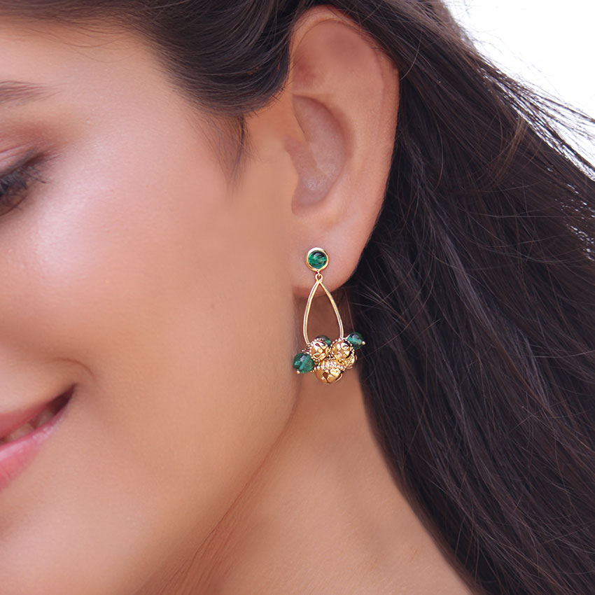 Sharmila Gold Drop Earrings