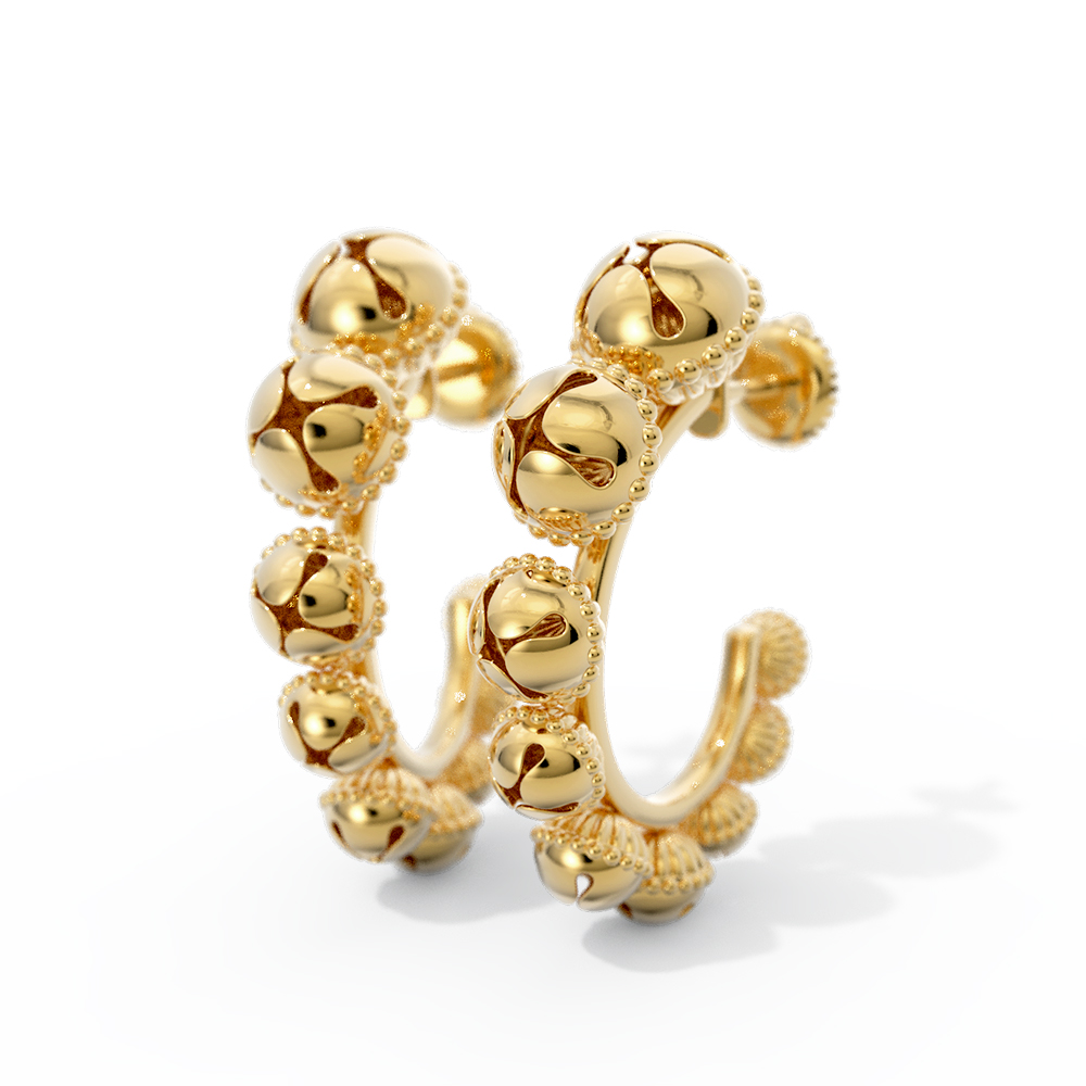 Kanak Gold Hoop Earrings