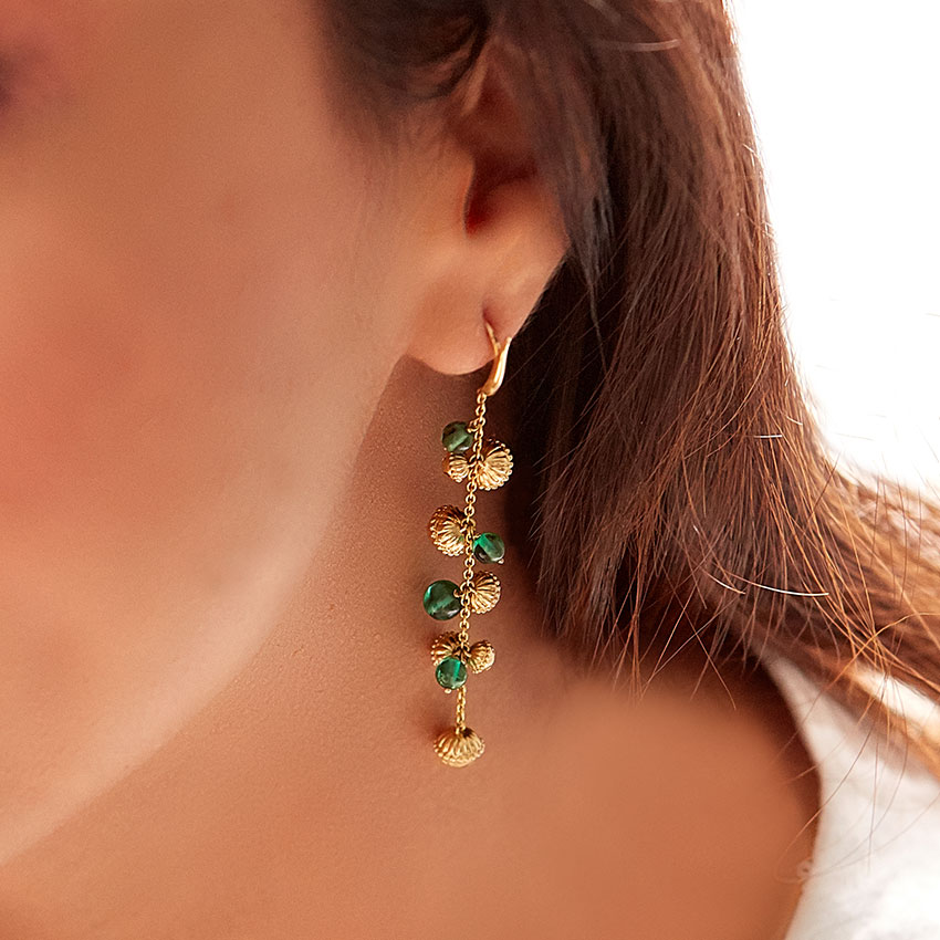 Viji Gold Drop Earrings