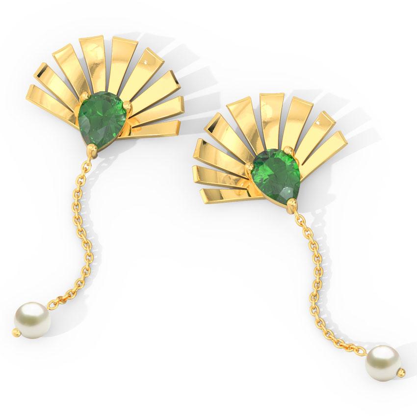 Royal Crown Drop Earrings