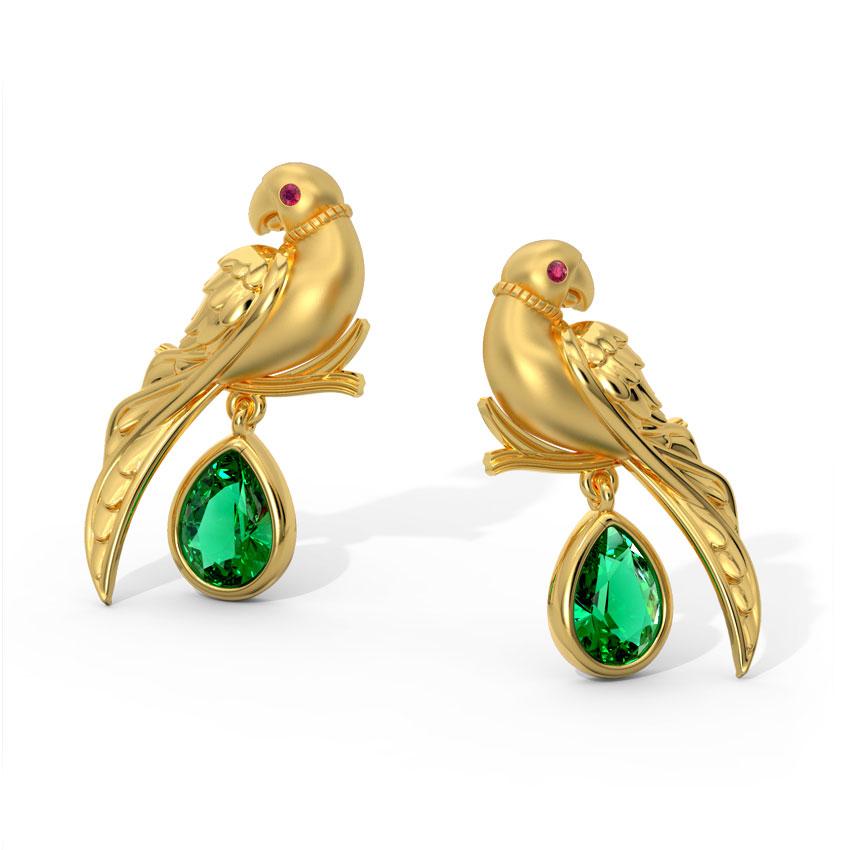Charming Parrot Drop Earrings