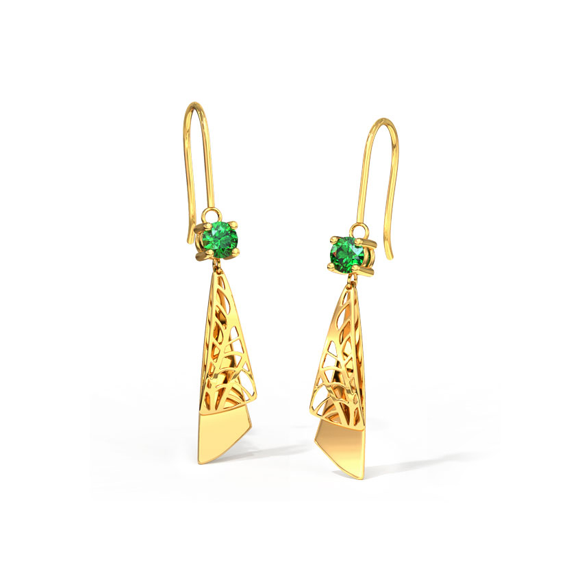 Sleek Cutout Drop Earrings