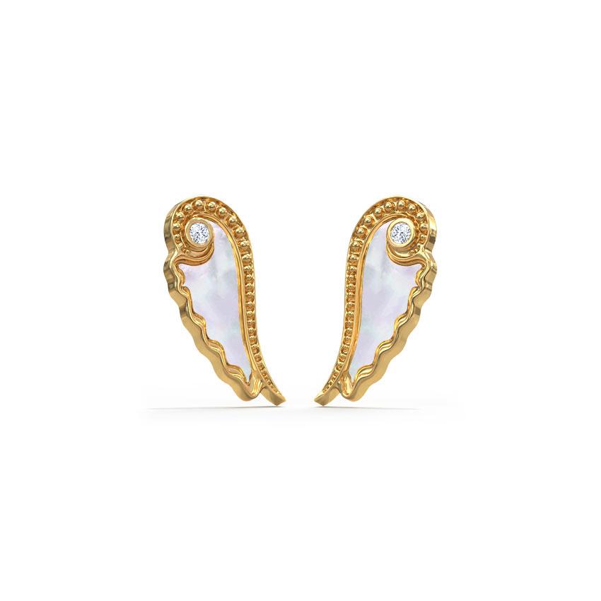 Fairy Mother of Pearl Kids' Earrings