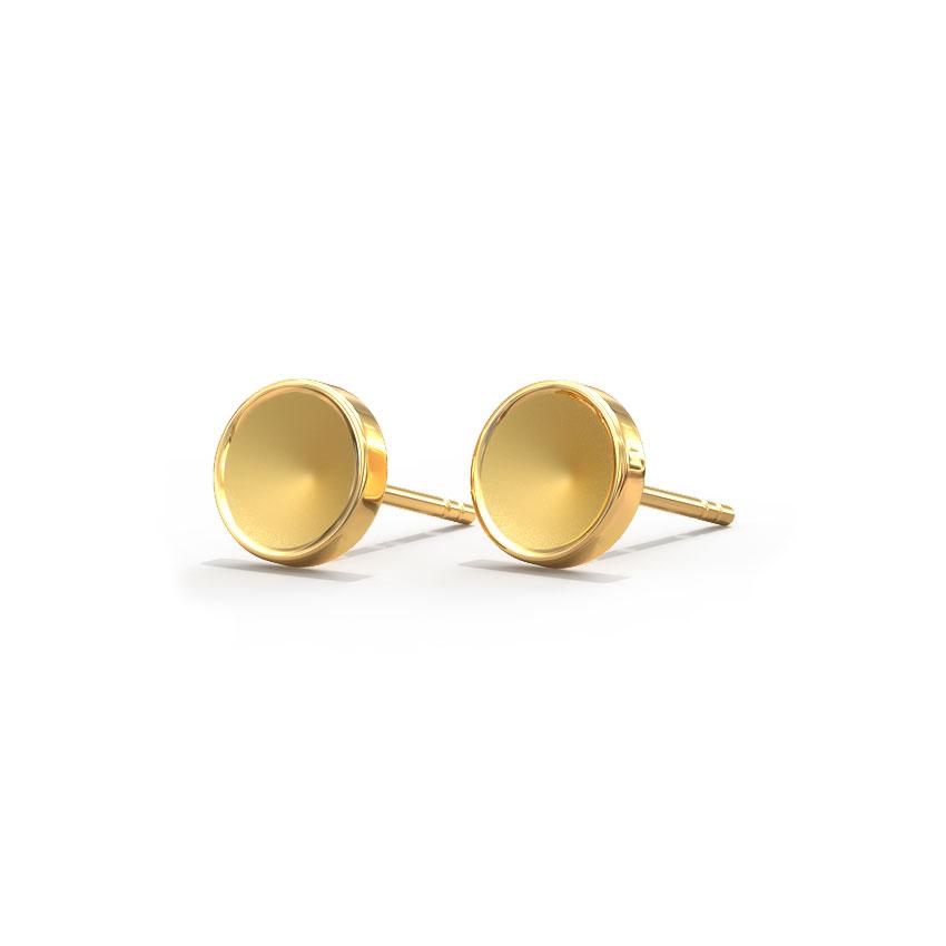 Cute Circlet Stud Earrings