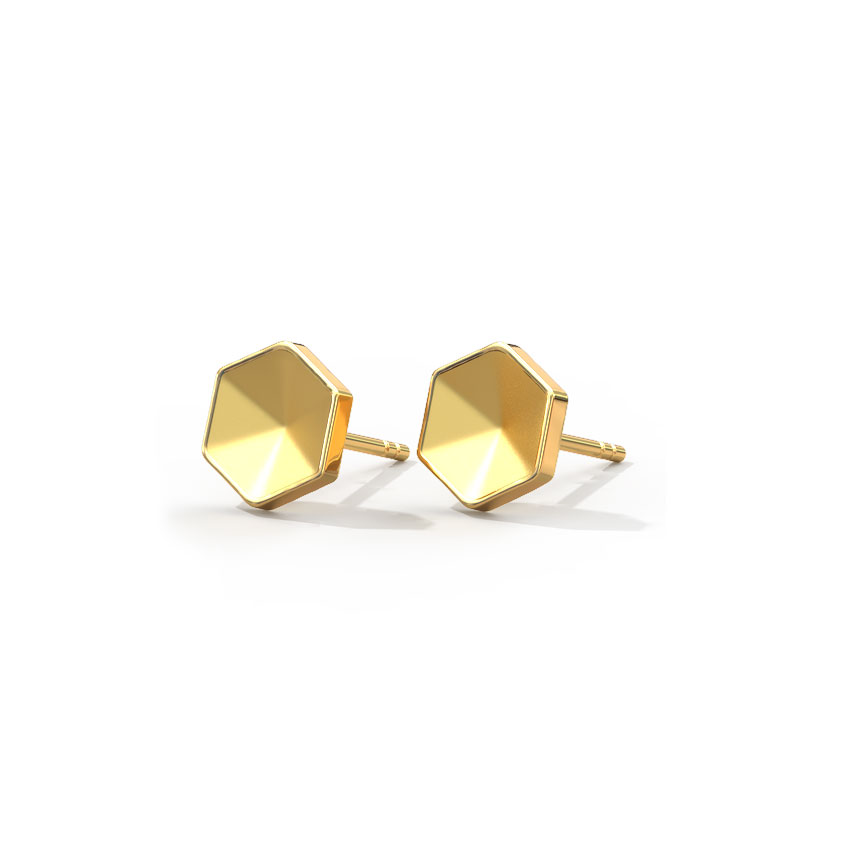 Funky Hexagon Kids' Earrings