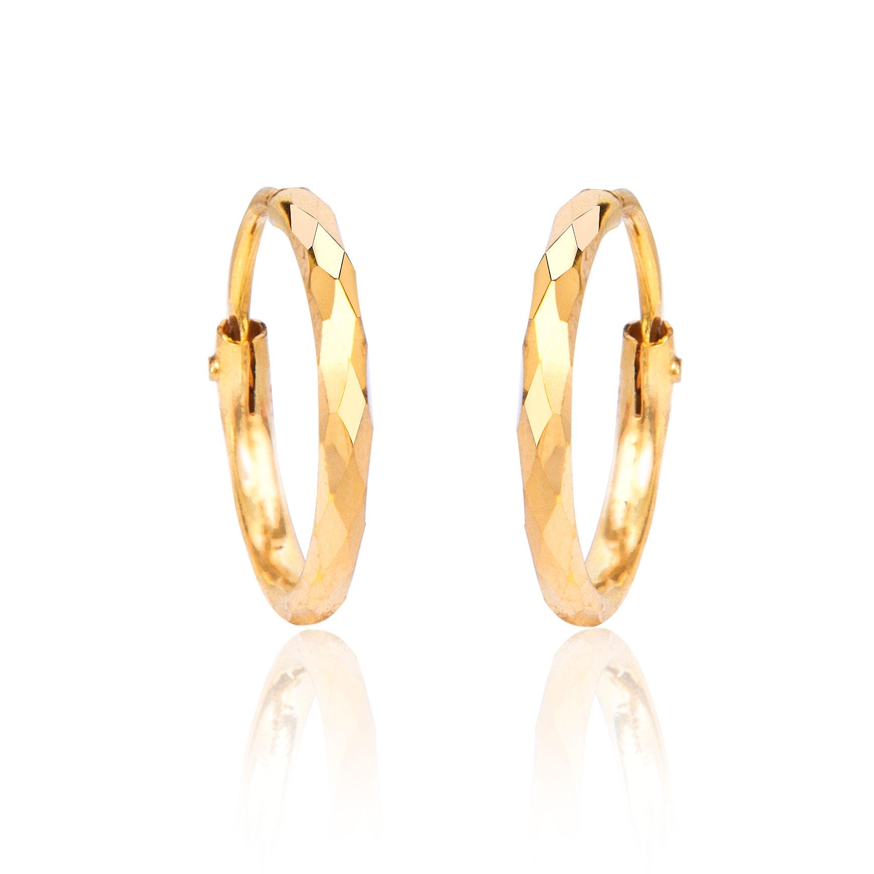 Latika Gold Hoop Earrings