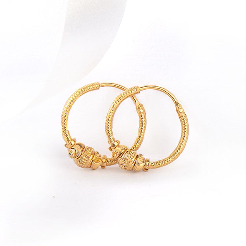 Aarya Gold Hoop Earrings