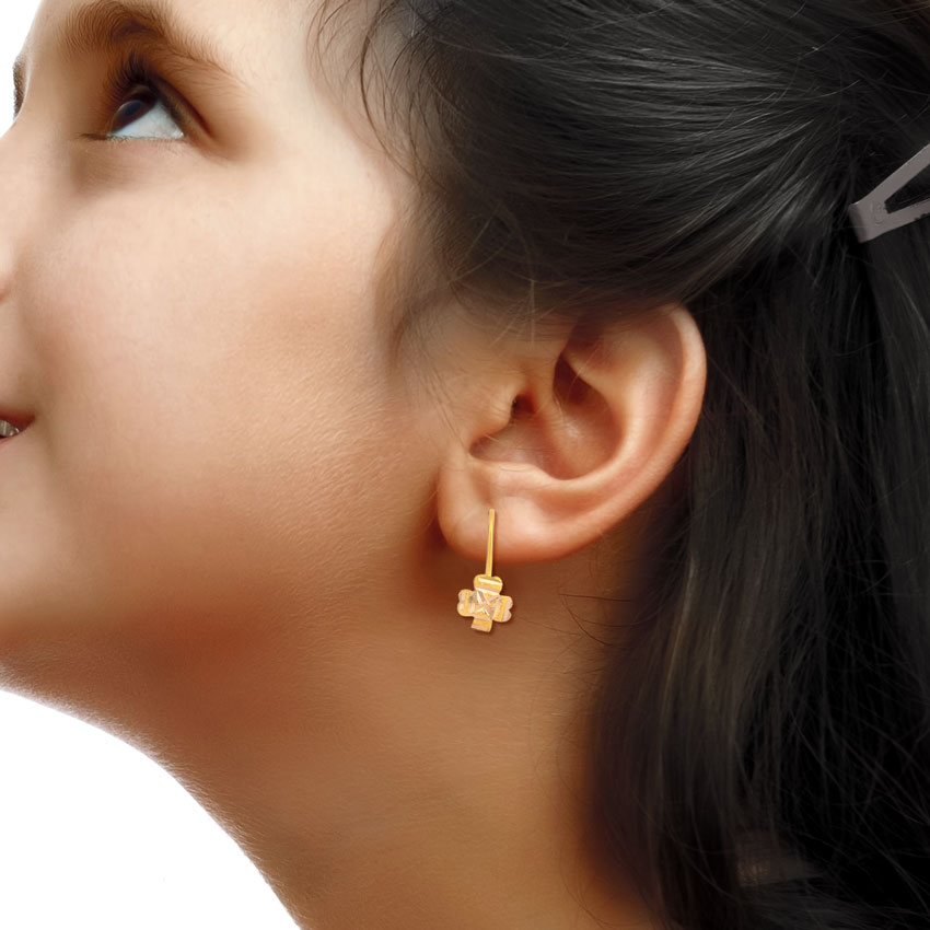 Aksha Gold Drop Earrings