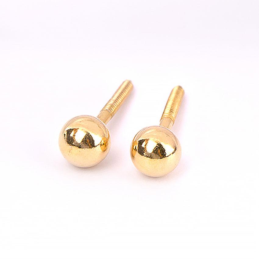 Richa Gold Stud Earrings