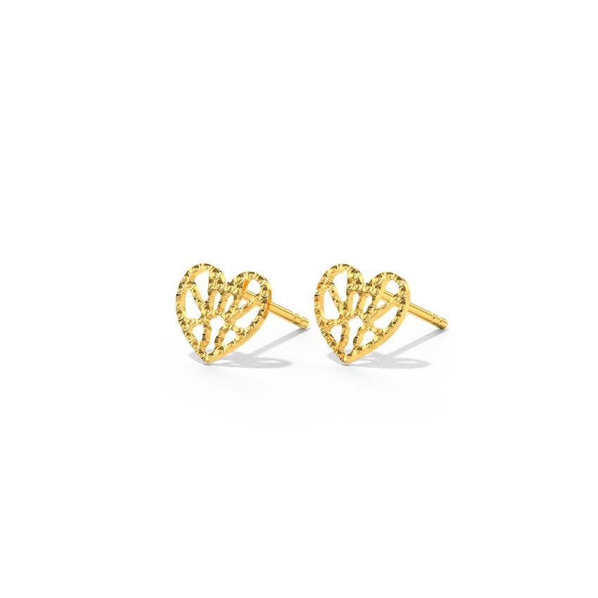 Dreamer Heart Stud Earrings