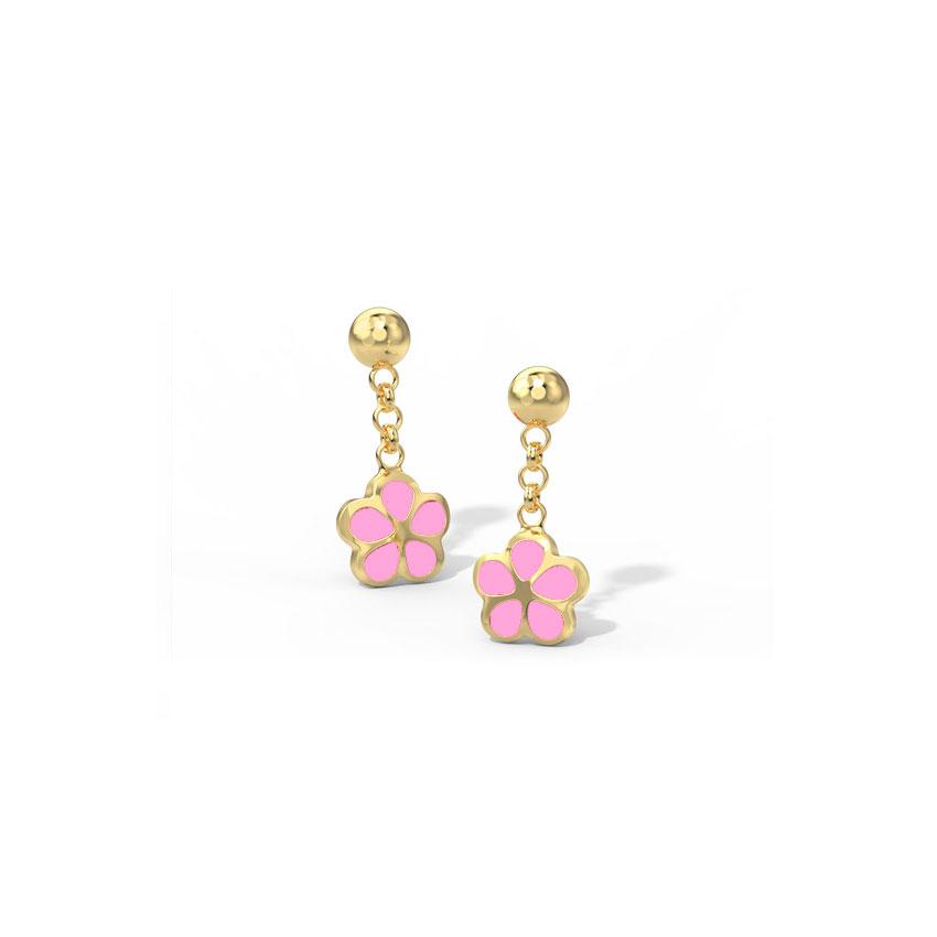 Scarlet Bloom Drop Earrings