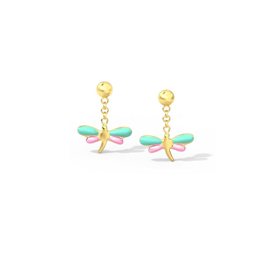 Vibrant Dragonfly Kids' Earrings