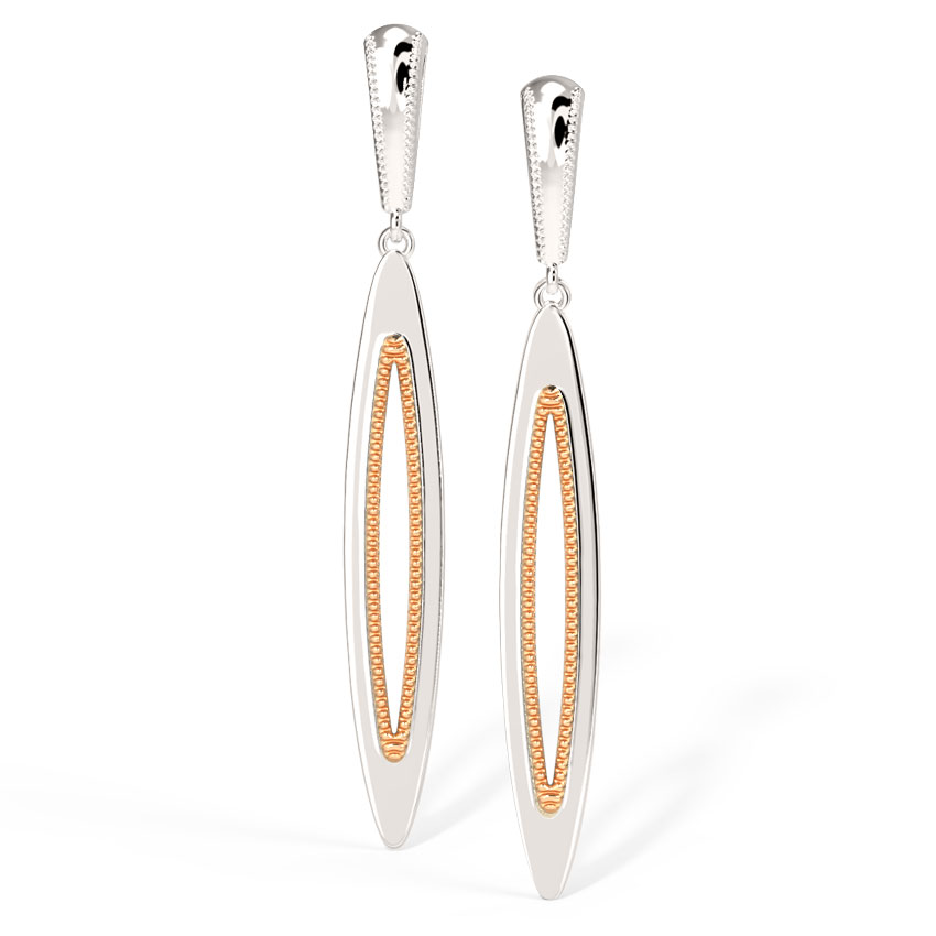 Sleek Marquise Drop Earrings