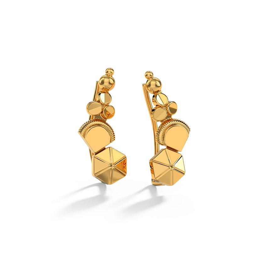 Gold Earrings 18 Karat Yellow Gold Raisha Gold Ear Cuffs