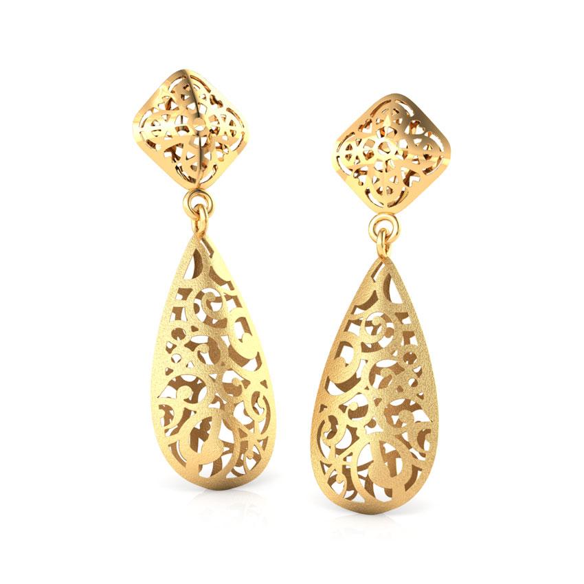 Linda Cutout Drop Earrings