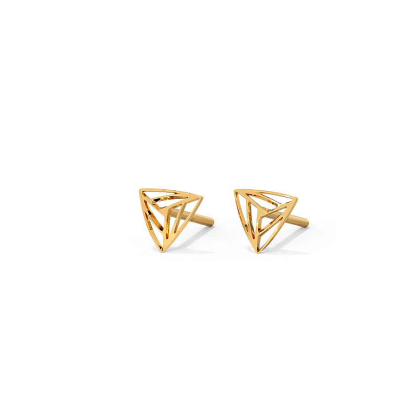 Trine Cutout Stud Earrings