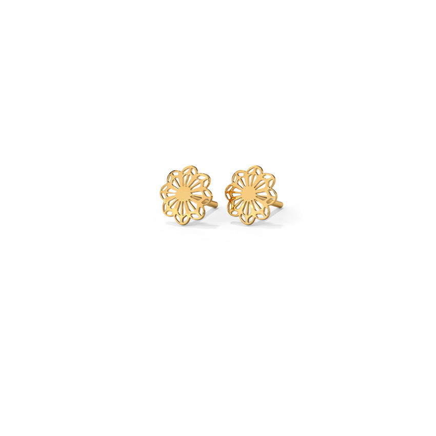 Florid Cutout Stud Earrings