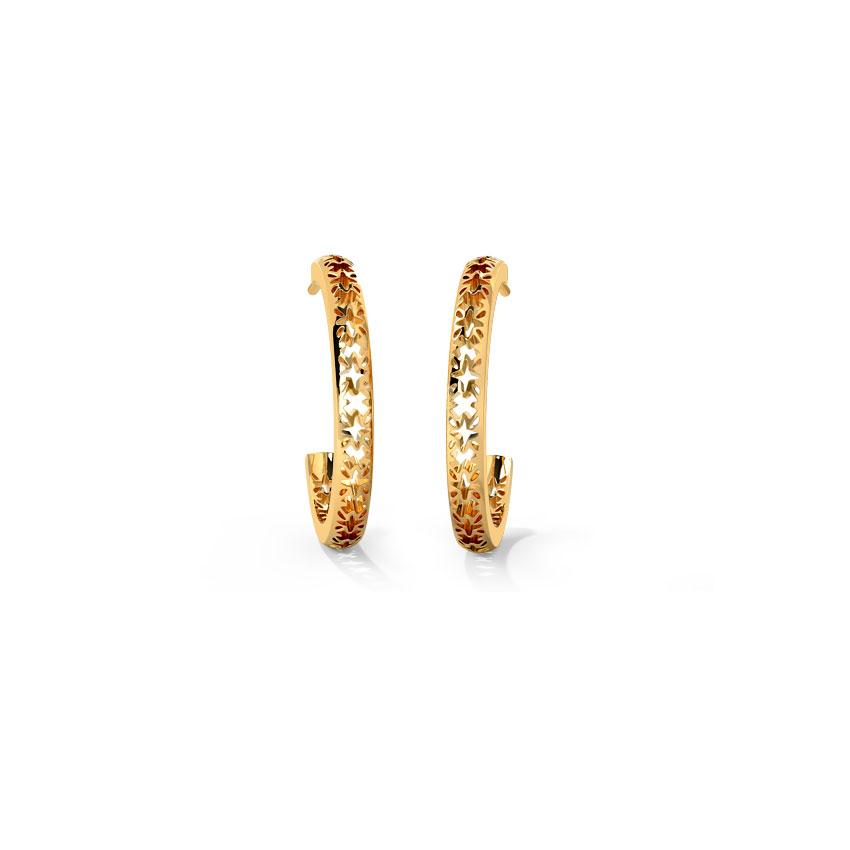 Abstract Cutout Hoop Earrings