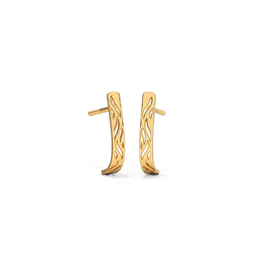 Streaks Cutout Hoop Earrings