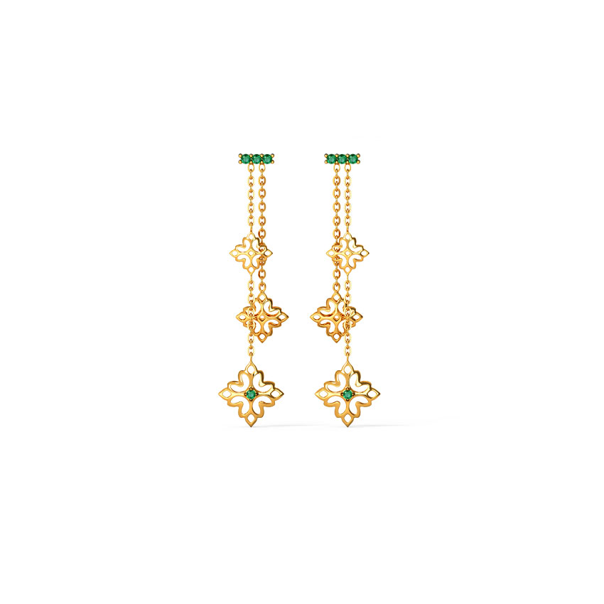 Nitara Cutout Drop Earrings