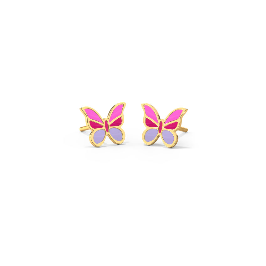 Violet Flutter Kids' Earrings