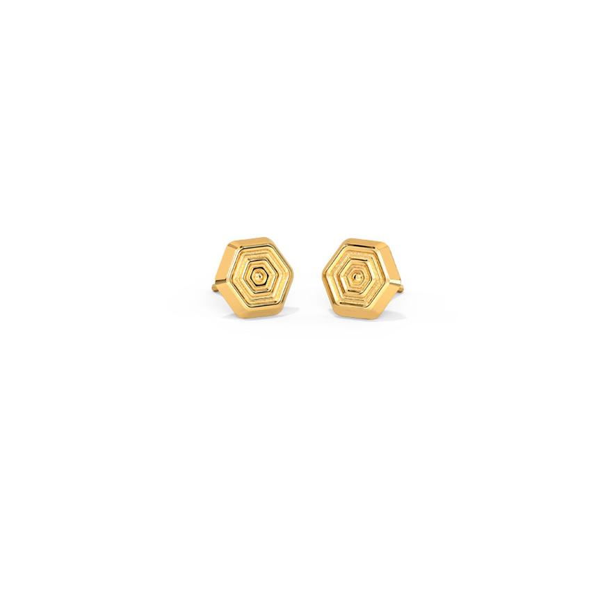 Edgy Ripple Kids' Earrings