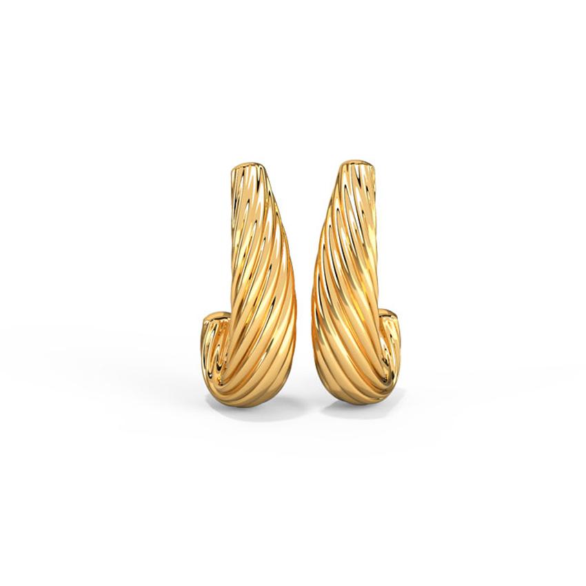 Gold Earrings 14 Karat Yellow Gold Admirable Gold Hoop Earrings