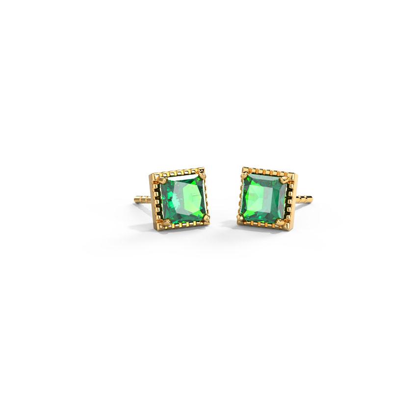 Gold,Gemstone Earrings 14 Karat Yellow Gold Bella Classy Gemstone Stud Earrings