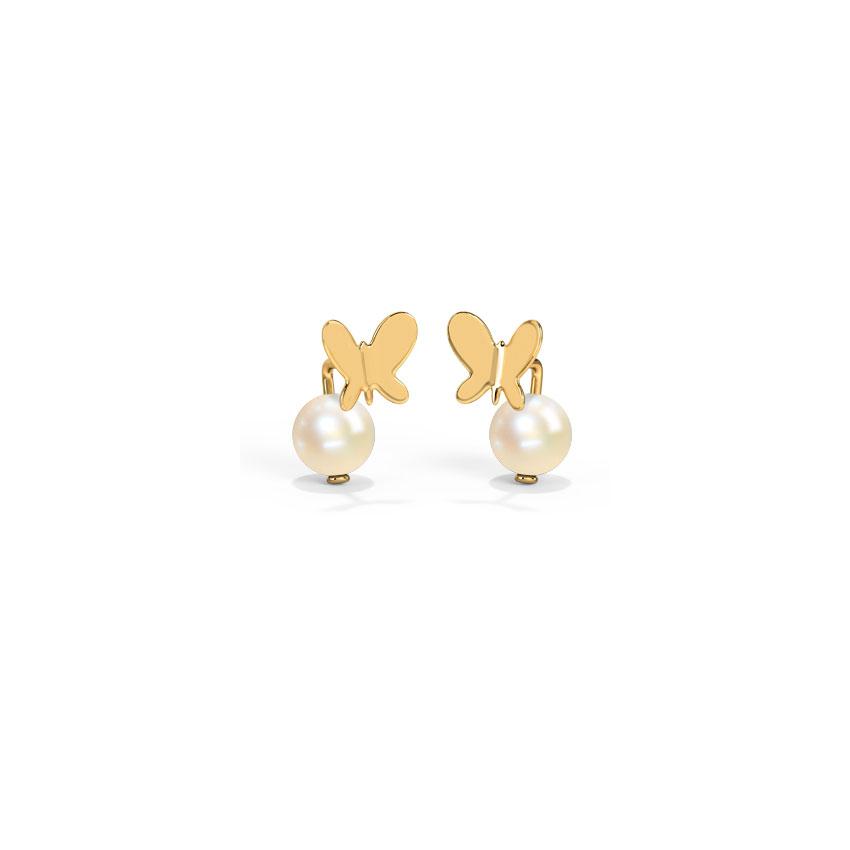 Gemstone Earrings 18 Karat Yellow Gold Kids' Earrings by Archana