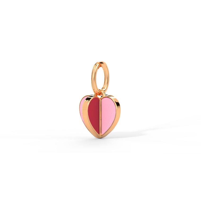 Gold Charms 14 Karat Rose Gold Colour Pop Love Gold Charm