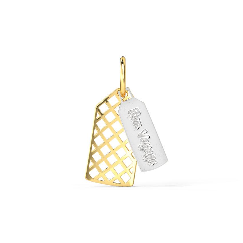 Gold Charms 14 Karat Yellow Gold Bon Voyage Gold Travel Charm